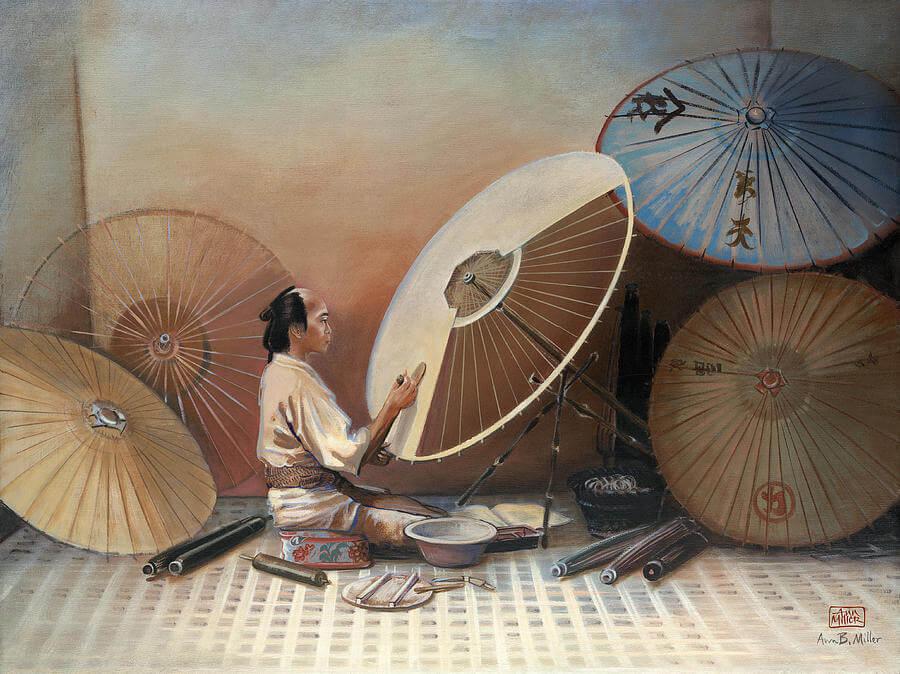 Изготовление зонтов мастером